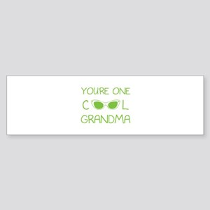 You're one cool grandma Sticker (Bumper)
