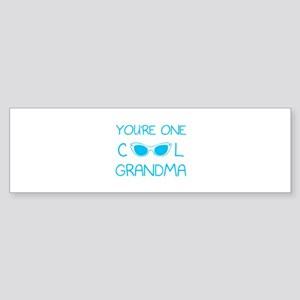 You're one cool grandma Sticker (Bumper)