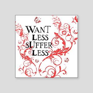 want_less_vine_pink_white Sticker
