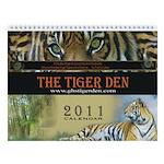 Tiger Den Wall Calendar