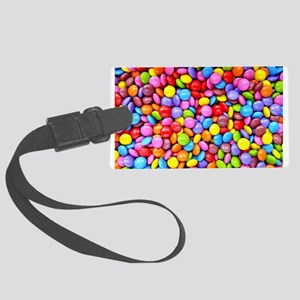 Colorful Candies Large Luggage Tag