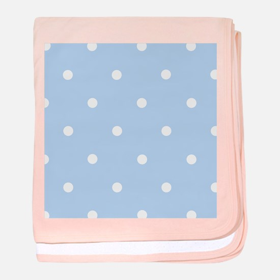 'Vintage Blue' baby blanket