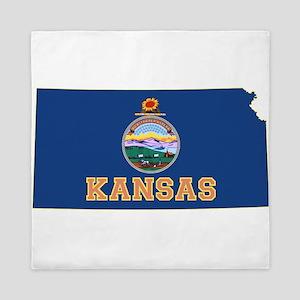 Kansas Flag Queen Duvet