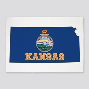 Kansas Flag 5'x7'Area Rug