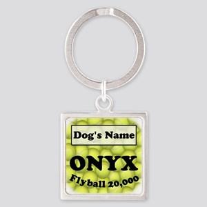 Flyball ONYX Square Keychain