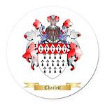 Charlett Round Car Magnet
