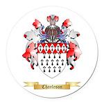 Charleson Round Car Magnet