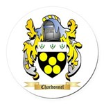 Chardonnel Round Car Magnet