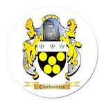Chardonneau Round Car Magnet