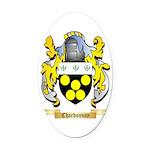 Chardonnay Oval Car Magnet