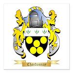 Chardonnay Square Car Magnet 3