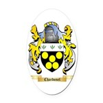 Chardonel Oval Car Magnet