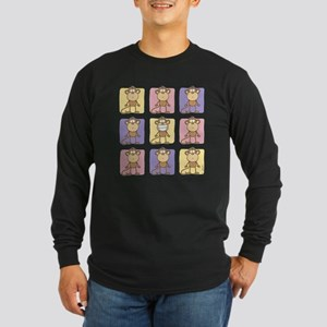 9 Monkeys Pastel Long Sleeve Dark T-Shirt