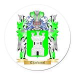 Charbonel Round Car Magnet