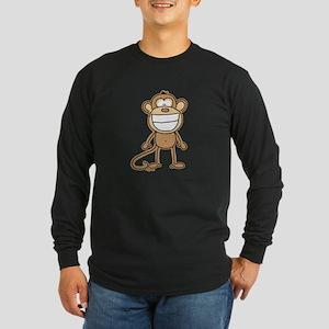 Big Monkey Grin Long Sleeve Dark T-Shirt