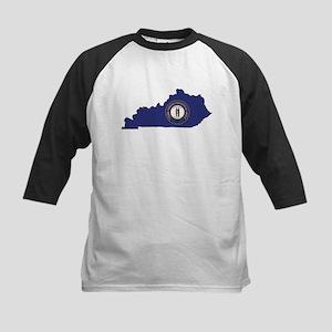 Kentucky Flag Kids Baseball Jersey