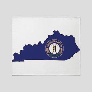 Kentucky Flag Throw Blanket