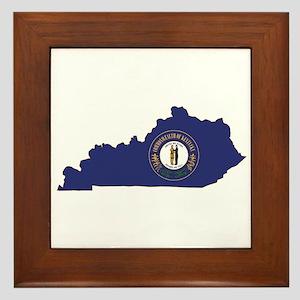 Kentucky Flag Framed Tile