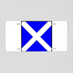 Nautical Flag Code Mike Aluminum License Plate
