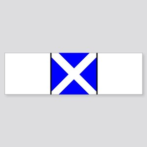 Nautical Flag Code Mike Bumper Sticker