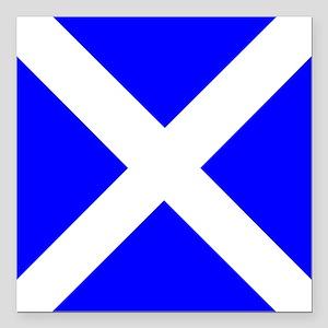 "Nautical Flag Code Mike Square Car Magnet 3"" x 3"""