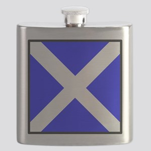 Nautical Flag Code Mike Flask