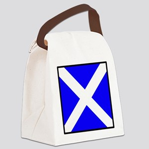 Nautical Flag Code Mike Canvas Lunch Bag