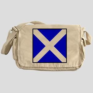Nautical Flag Code Mike Messenger Bag