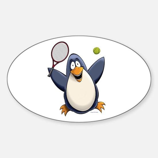 Tennis Penguin Decal