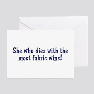 Funny Quilters Quote  Greeting Cards (Pk of 10