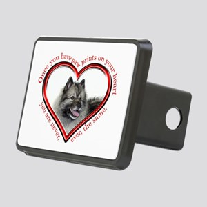 Keeshond Paw Prints Hitch Cover