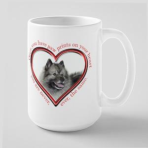 Keeshond Paw Prints Mug
