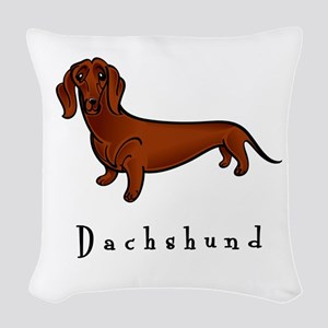 illustrated Woven Throw Pillow