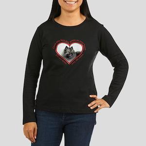 Keeshond Paw Prints Long Sleeve T-Shirt