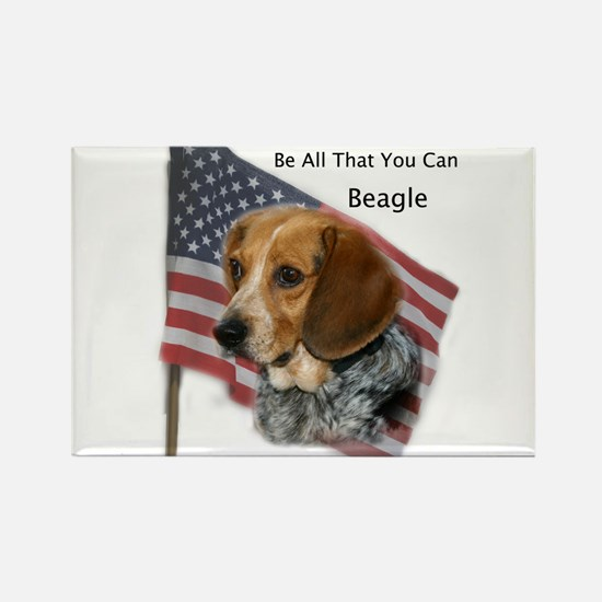 Be all you can Beagle Rectangle Magnet