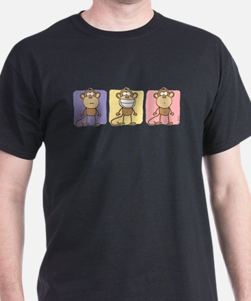 Monkey Trio Pastel T-Shirt