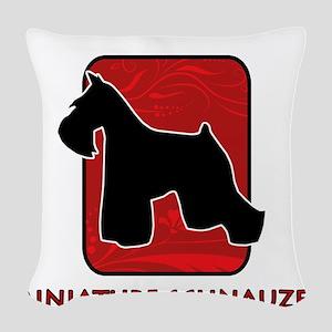 5-redsilhouette Woven Throw Pillow