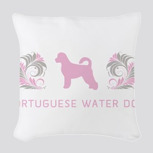 12-pinkgray Woven Throw Pillow