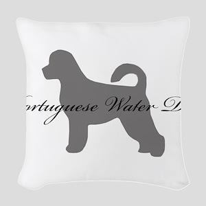 19-greysilhouette2 Woven Throw Pillow