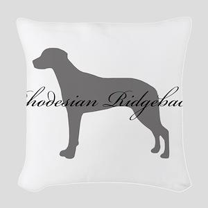 22-greysilhouette2 Woven Throw Pillow
