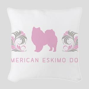 21-pinkgray Woven Throw Pillow