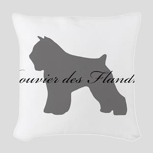 28-greysilhouette Woven Throw Pillow