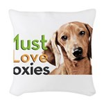 Must Love Doxies Woven Throw Pillow