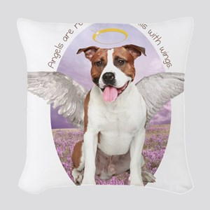 angelwithwings Woven Throw Pillow