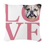 love Woven Throw Pillow