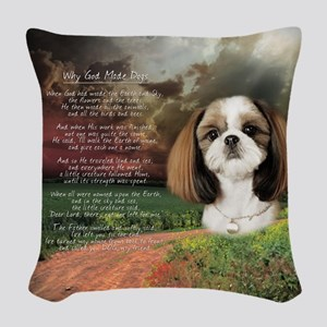 godmadedogs Woven Throw Pillow