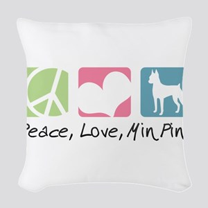peacedogs Woven Throw Pillow