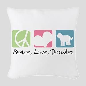 peacedogs Woven Throw Pillow