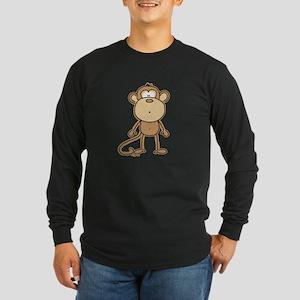 Oooh Monkey Long Sleeve Dark T-Shirt