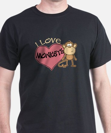 I Love Monkeys T-Shirt